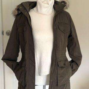 BCBG next generation faux fur hooded jacket